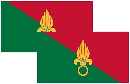 Bandera de la Legión Extranjera Francesa Moto pegatinas 2 unidades: Amazon.es: Coche y moto