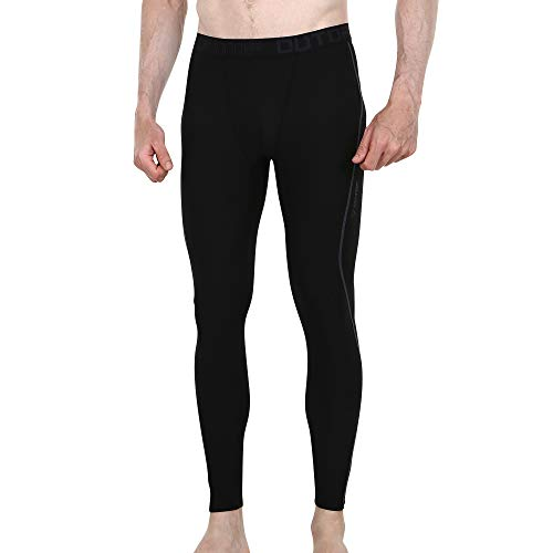 1b011d9a6 OUTOF Men's Compression Pants Baselayer Cool Dry Sports Tights Leggings  Running Yoga Rashguard MPL5117R-2XL-BKC