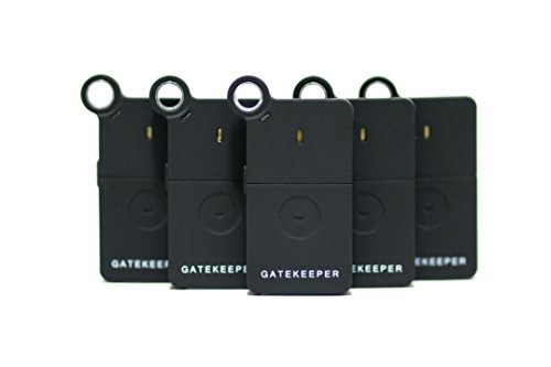 GateKeeper 2.5 Remote Control for your Computer with Military-Grade Encrypted Bluetooth SMART Key & Lock Authentication, Black 5-Pack by GateKeeper