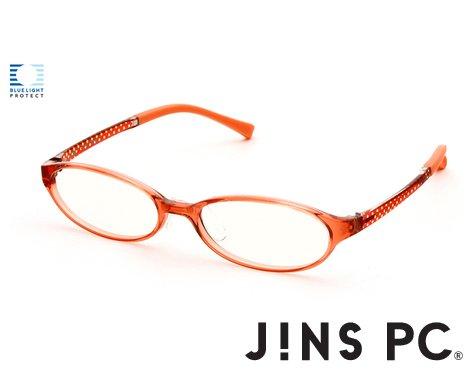 【JINS PC オーバル クリアレンズ】PC(ディスプレイ)専用メガネ (度なし) (PINK)