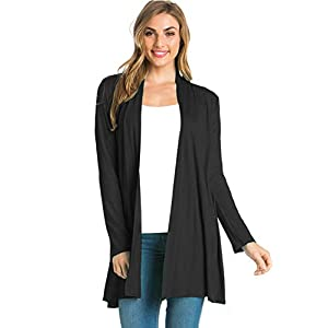 12 Ami Longline Long Sleeve Open Cardigan (S-3X) – Made in USA