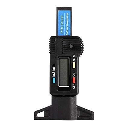 Cikuso 0-25.4Mm Calibre de Profundidad de Neumatico Digital Monitor de Presion de Neumaticos