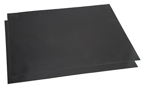 Classic Cuisine Non-Stick Reusable BBQ Grill Mat (Set of 2), Black
