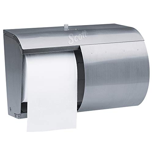 Scott 09606 Pro Coreless SRB Tissue Dispenser, 7 1/10 x 10 1/10 x 6 2/5, Stainless - Stainless Steel Dispenser Paper Toilet