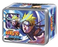 Naruto Cards Promo - 2011 Collector's Tin: Naruto Shippuden Card Game Rebirth Naruto's Toad Sages Includes 2 Promo Card 4 Packs!