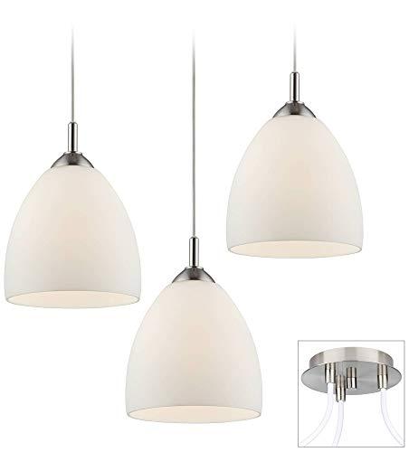 Possini Euro Opal Glass Brushed Nickel 3-Light Pendant - Possini Euro Design ()