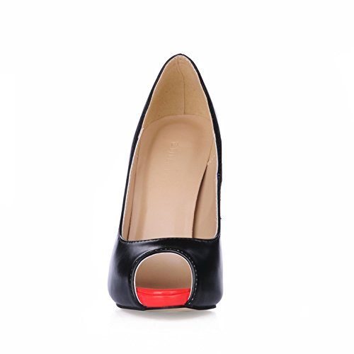 De De Chaussures Version Des De Sur Femmes L'emploi Femmes Du Produits Haut Nouveaux Pointe Chaussures Ol Tombent Cliquez À Poisson Euro Rouge Talon Noir Noires Marché Les x0ATwqnCR