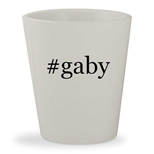 #gaby - White Hashtag Ceramic 1.5oz Shot Glass