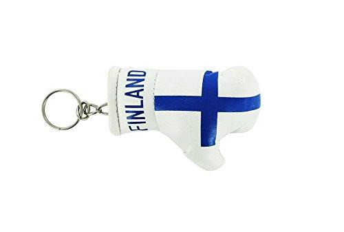 Porte cles finlande gant de boxe drapeau flag cle clef clefs finlandais