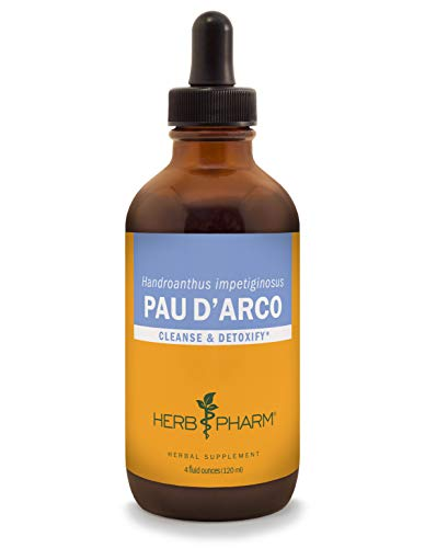 Herb Pharm Pau d'Arco Liquid Extract for Cleansing and Detoxification - 4 Ounce