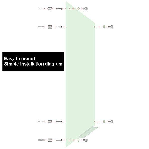 Lockways Glass Dry Erase Board – Ultra Whiteboard / White board 36 x 24, Frameless, Clear marker tray, For Office, Home, School by Lockways (Image #3)