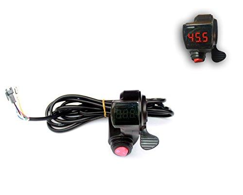 電気自転車コントローラー キーロックスイッチ表示 バッテリー電圧番号 電動スクーター バッテリーインジケーターと親指アクセラレータ