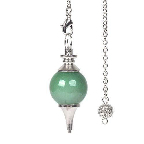 Natural Green Aventurine Gemstone Dowsing 40mm Crystal Healing Chakra Reiki Point Pendulum