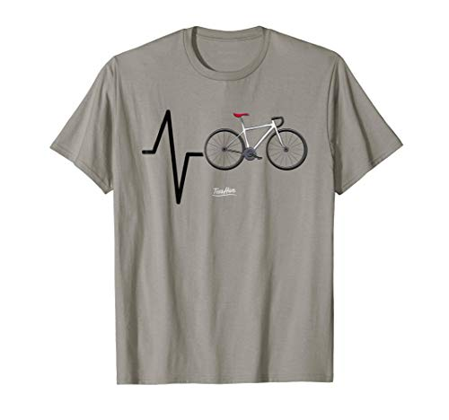 Cycling Heartbeat Cycling Themed Funny Cycling Lovers Shirt