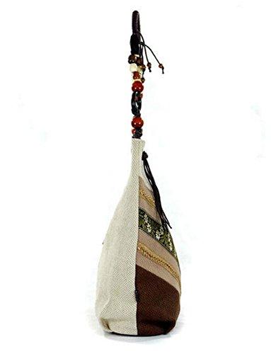 Floreale Per Forma A Pinchu Multicolore Con Borsa Hobo Di Rilievo Bottoni Grande In Donna Mano q740ngWOq