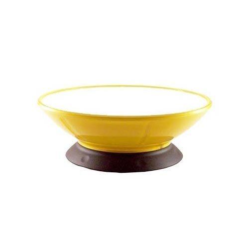 Lemon Zest Pedestal Bowl 2 cups / 473 ml (2 Pack) by ModaPet