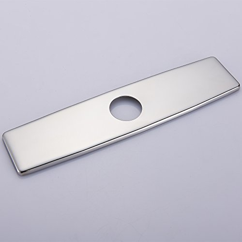 10' Stainless Steel Cover (Regalmix RWF075A 10'' 304 Stainless steel Kitchen Sink Faucet Hole Cover Deck Plate Escutcheon,Polished Chrome)