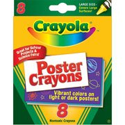 Crayons Poster - BIN523283 - Crayola Poster Crayons,8/PK, Nontoxic, Assorted
