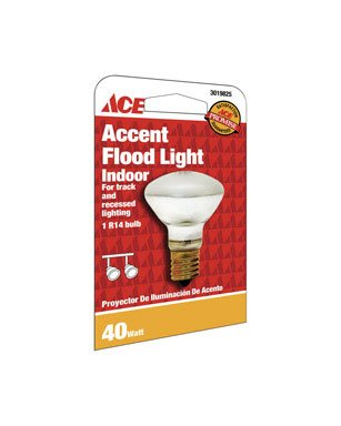 12 each: Ace R14 Reflector Floodlight Bulb (11554) (R14 Reflector Ace)