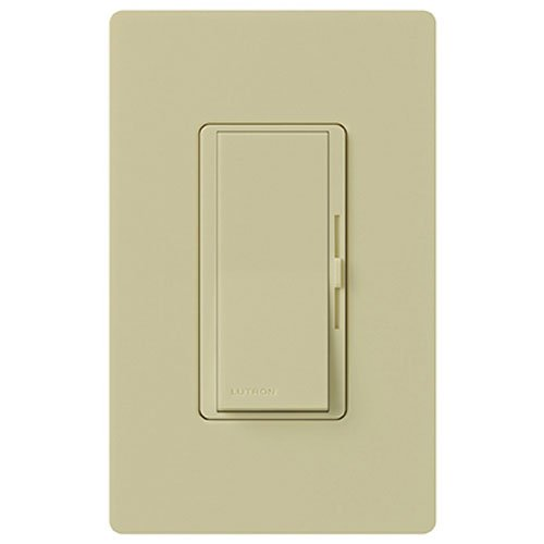 Lutron Diva Dimmer Switch for Halogen and Incandescent Bulbs, Single-Pole, with Wallplate, DVW-600PH-IV, Ivory