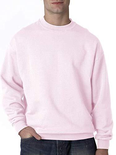 (Jerzees Men's Super Sweats Crew Neck Sweatshirt, Classic Pink, XX-Large)