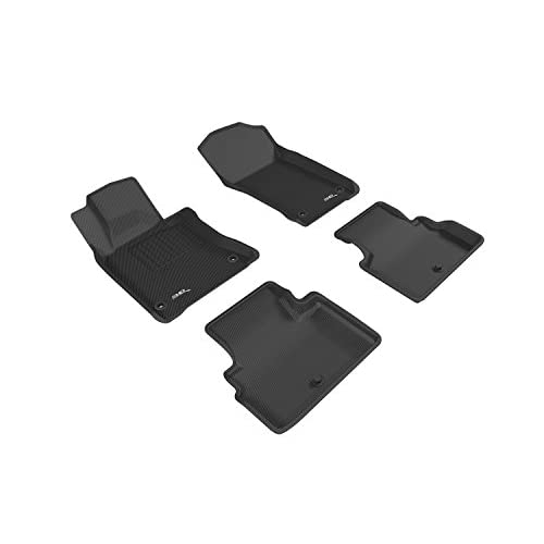 Kagu Rubber Gray 3D MAXpider Complete Set Custom Fit All-Weather Floor Mat for Select Subaru XV Crosstrek Models