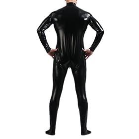 Seeksmile Unisex Metallic Bodysuit Zentai Without Hood