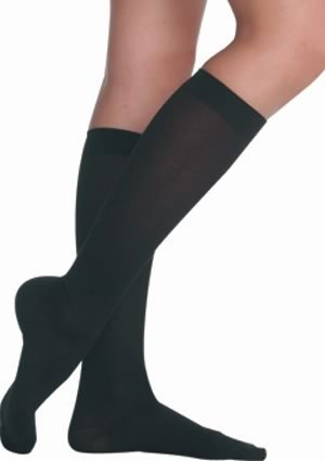 Juzo Soft Knee High With Silicone Dot Band Short Closed Toe 20-30mmHg, V, Beige