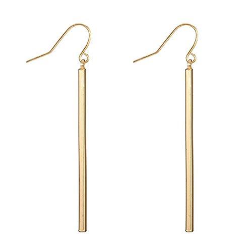 Simple Bar Earrings Long Stick Fish Hook Drop Earrings for Women Jewelry Geometry Brincos - Long Hook Fish
