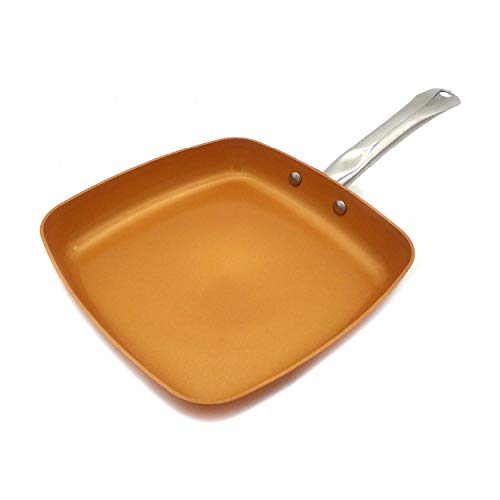 Non-Stick Copper Frying Pan With Ceramic Coating And Induction Cooking,Oven & Dishwasher Safe,10 Inch 2.5Mm