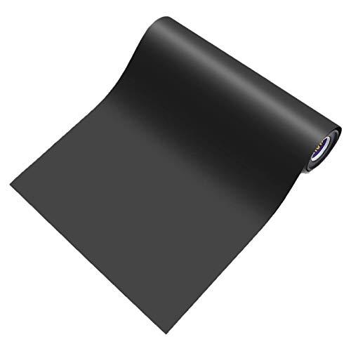 Heat Transfer Vinyl Black Roll 12''x5' Matte Iron On Vinyl Black HTV Vinyl for T-Shirt Silhouette Cameo Cricut Machines Craft Cutters 12 Inches by 5 Feet ()
