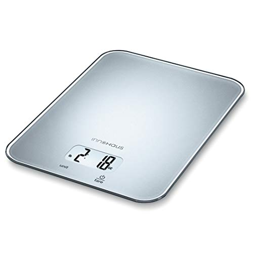 Our Brand - innoHaus AKS19 Multi-Function Kitchen Food Scale, Digital Display with Tare Function, Precise, Measures in g, oz, lb:oz, ml, fl.oz with Auto-Off