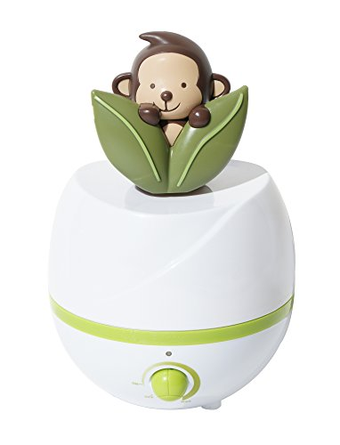 SPT Adorable Monkey 0.66 Gal. Ultrasonic Cool Mist Humidifier Green/White SU-2541