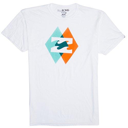 Billabong Men's Overlap Short Sleeve T-Shirt, White, 2X-Large