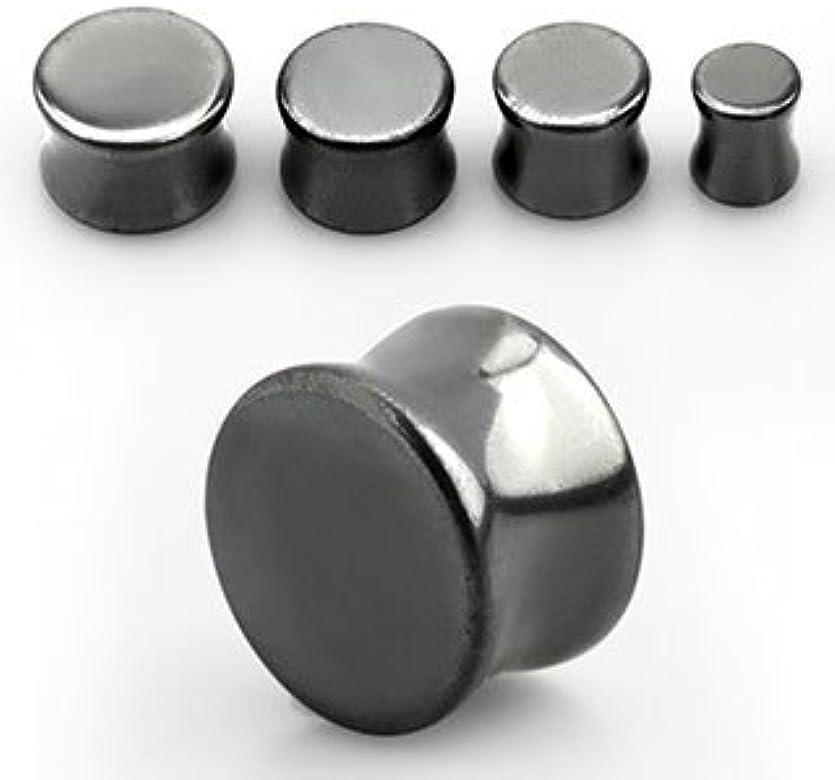 código promocional ece0a 24c04 Expansor hueco de piedra orgánica hemetita negro plateado 0g ...