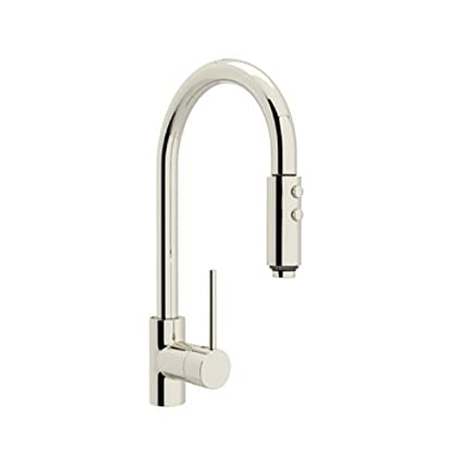Rohl Ls59l Pn 2 Modern Kitchen Faucet With Pull Down Spray Polished