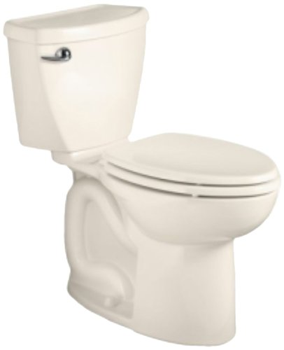 American Standard Cadet 3 Right Height Elongated Flowise Two-Piece High Efficiency Toilet with 10-Inch Rough-In, Linen (American Standard Cadet Bidet)