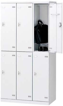 生興 SLBロッカー(扉ホワイト) 内筒交換錠 ロッカー 6人用 W900×D515×H1800 SLBW-6-T2