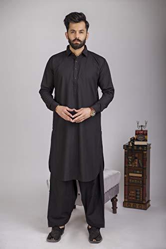 MaazJee Choice of Pakistani Celebrities Top Quality Formal KURTA SHALWAR BLACK