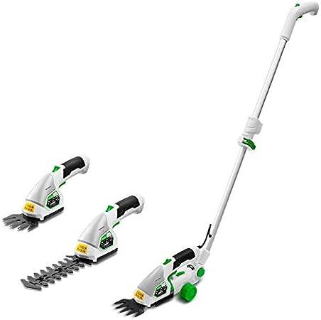 Xiao Tian Cortadora de setos, cortadora de arbustos sin Cable, Cuchillas Intercambiables sin Necesidad de Herramientas, Mango telescópico Extensible y Rueda