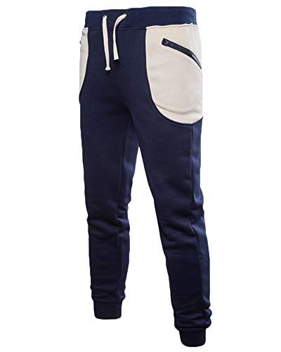 Uomo Slim Cargo Jogging Sportivi Casual Fit Anyua Pantalone Marina Pantaloni d6wxtYAv
