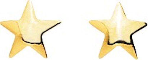 STELLA-Pendientes para mujer de oro amarillo 9 carat-sistemas de sillas de ruedas a tornillo-www.diamants-perles.com: Amazon.es: Joyería