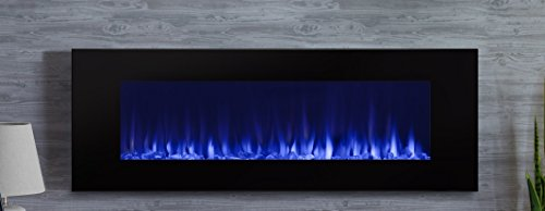 Real Flame DiNatale Wall-Mounted Electric Fireplace in Black