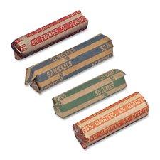 (Coin Wrapper, 60 lb, Pennies.50, 1000/BX, Red, Sold as 2 Box, 1000 Each per Box)