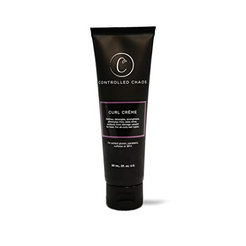 Controlled Chaos As Seen on Shark Tank Curl Defining Cream for All Hair Types to Add Smoothness and Control Curly, Anti-frizz and Wavy Hair, Sulfate-Free Curl Cream (3oz)