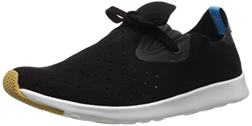 native Unisex Apollo Moc Fashion Sneaker, Jiffy Black/Shell White/Natural Rubber, 6 Women's/4 Men's - Moc Natural