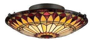 Quoizel TF1400SVB Tiffany Flush Mount Ceiling Lighting, 2-Light, 150 Watts, Vintage Bronze (6