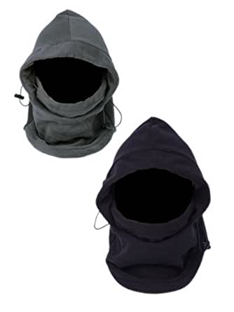 EOZY Thermal Warm Fleece Balaclava Hood Veil Wind Proof Stopper Mask Hats 2 PCS