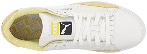 Puma Womens Match Lo Reset Wns Fashion Sneaker Puma White-soft Fluo Yellow