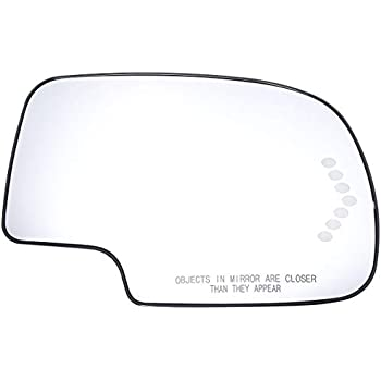 exactafit Chevy GMC Truck SUV Right Side Turn Signal Passenger View Mirror Glass